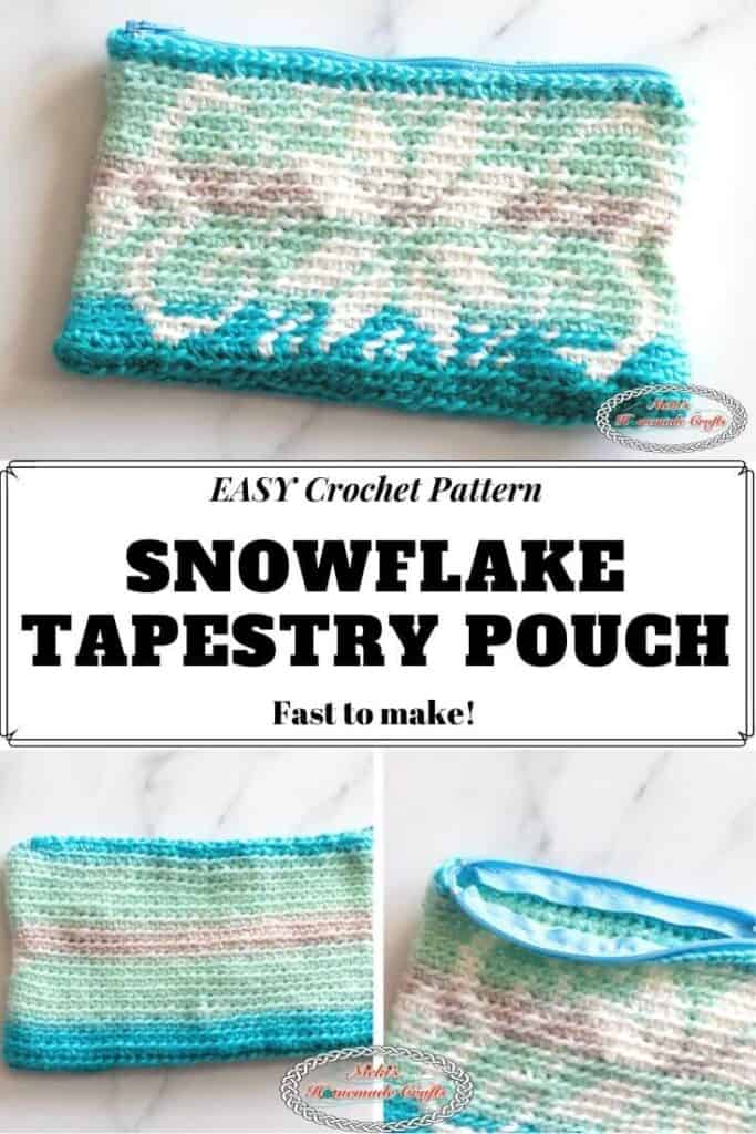 Crochet Snowflake Tapestry Pouch Pattern