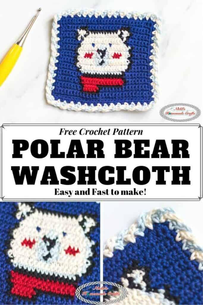 Polar Bear Washcloth Tapestry Crochet Pattern - Free