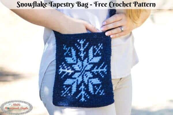 Snowflake Tapestry Bag - Free Crochet Pattern