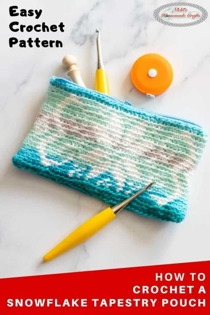 Snowflake Tapestry Pouch Crochet Pattern