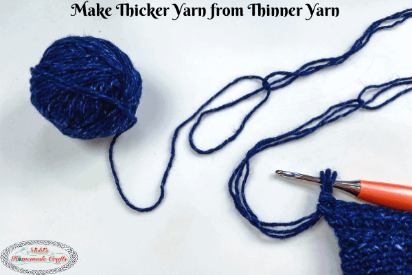 Thicker Yarn from Thin Yarn 1 skein