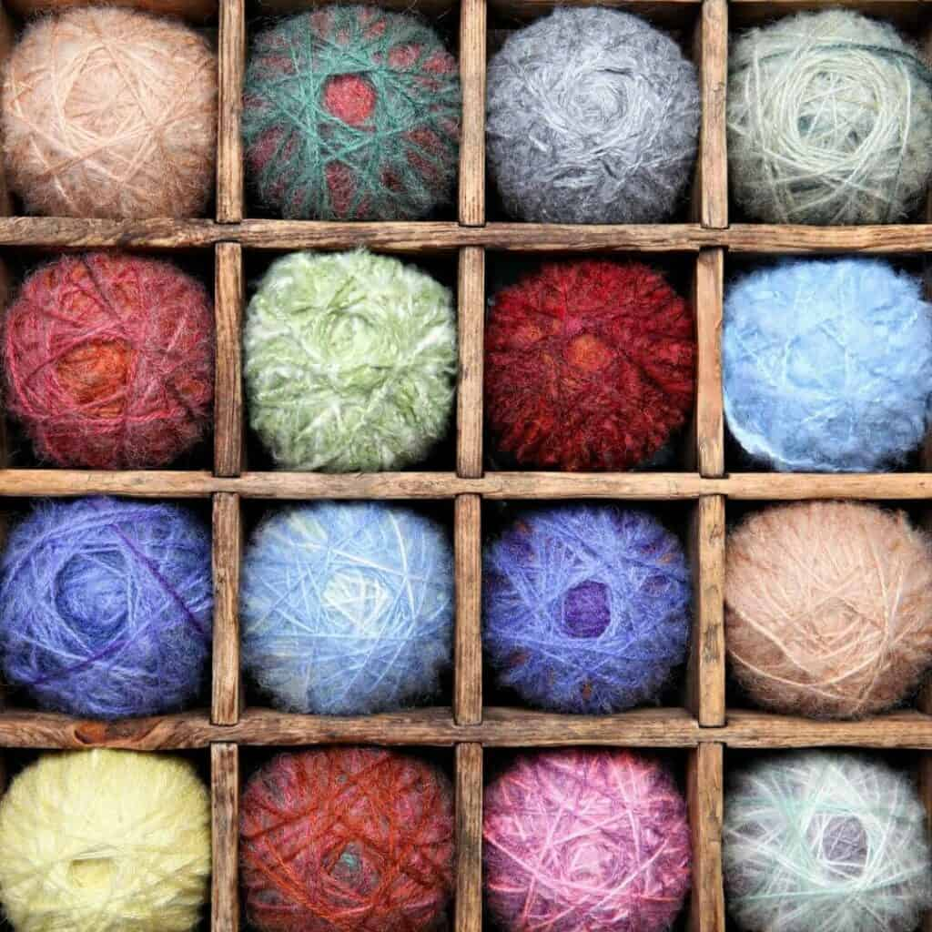 Yarn in a shelf