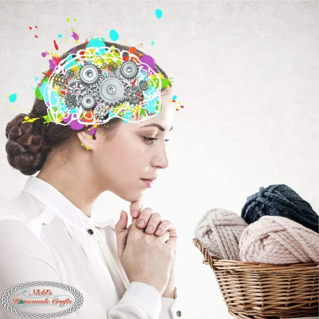 brain thinks of yarn