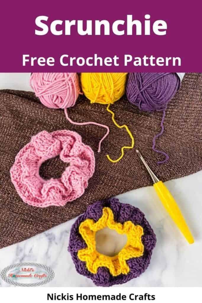 crochet scrunchie with elastic