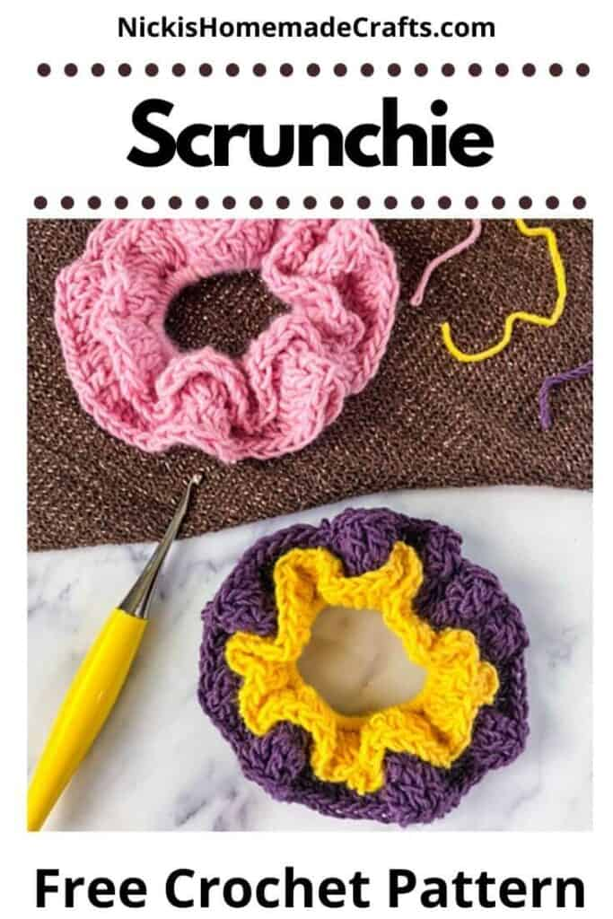 crochet scrunchie free pattern