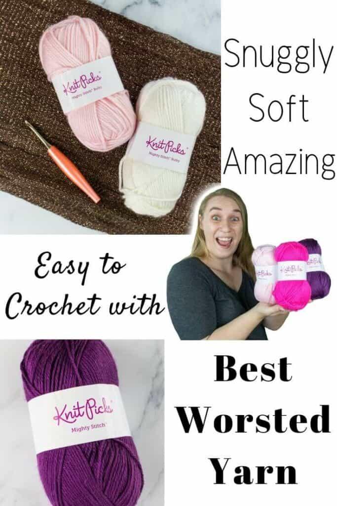 Best Worsted Yarn by WeCrochet plus Crochet Patterns