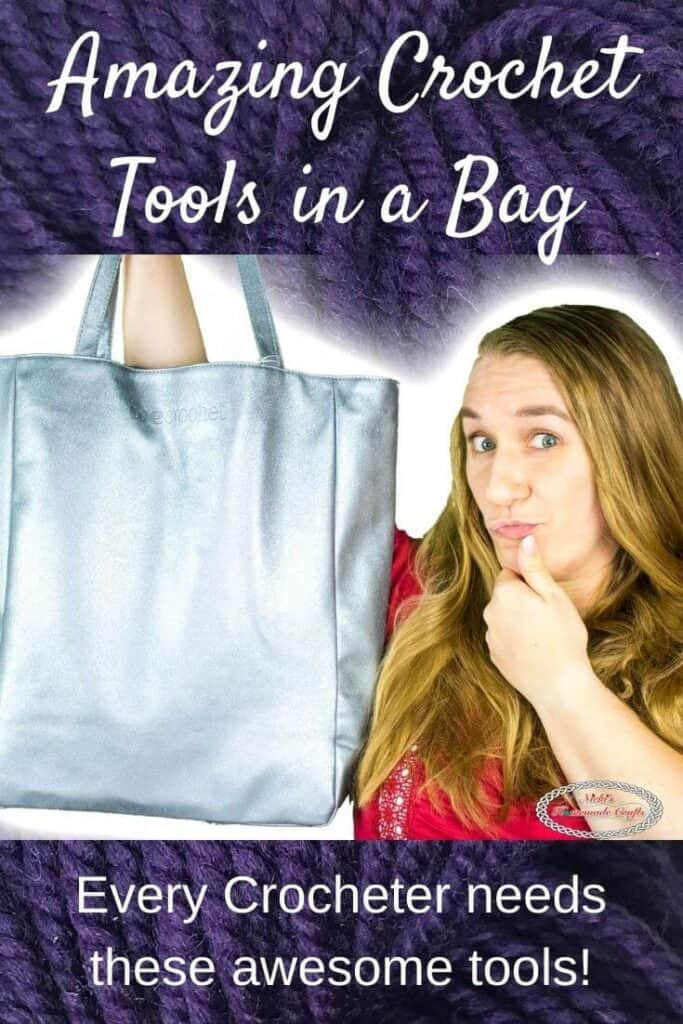 Cool Crochet Tools in a bag by WeCrochet plus Crochet Patterns