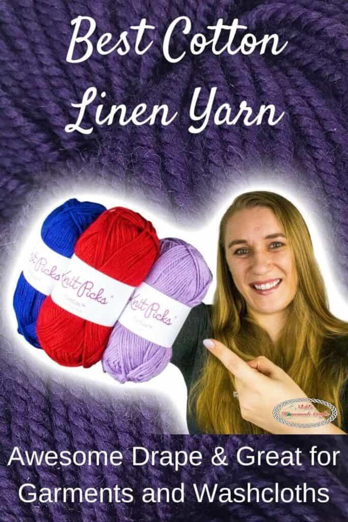 Cotton Linen Yarn by WeCrochet plus Crochet Patterns