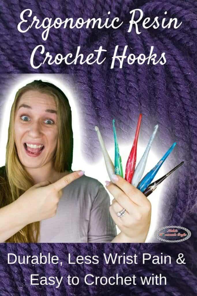 Ergonomic Resin Crochet Hooks by Furls Crochet plus Crochet Patterns