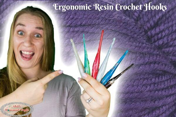 Ergonomic Resin Crochet Hooks