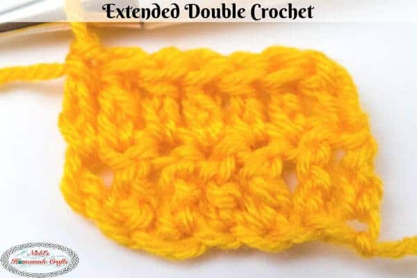 Extended Double Crochet Stitch