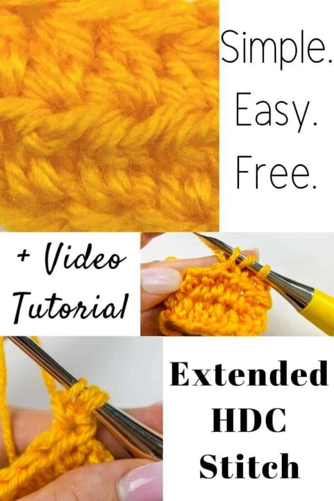 Extended Half Double Crochet Stitch Tutorial