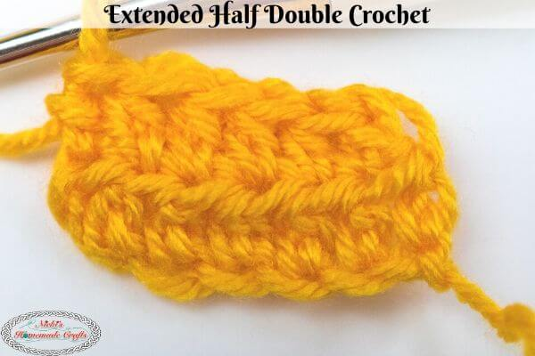 Extended Half Double Crochet Stitch