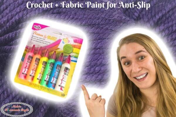 Fabri Paint + Crochet for Anti-Slip