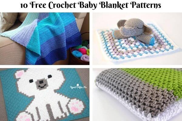 Baby blanket Crochet Pattern Collection Cover