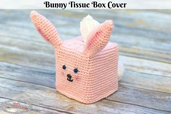Bunny Tissue Box Cover Crochet Pattern Free