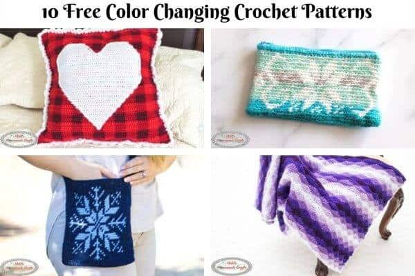 12 Most Popular Free Multicolor Crochet Patterns with Color Changes
