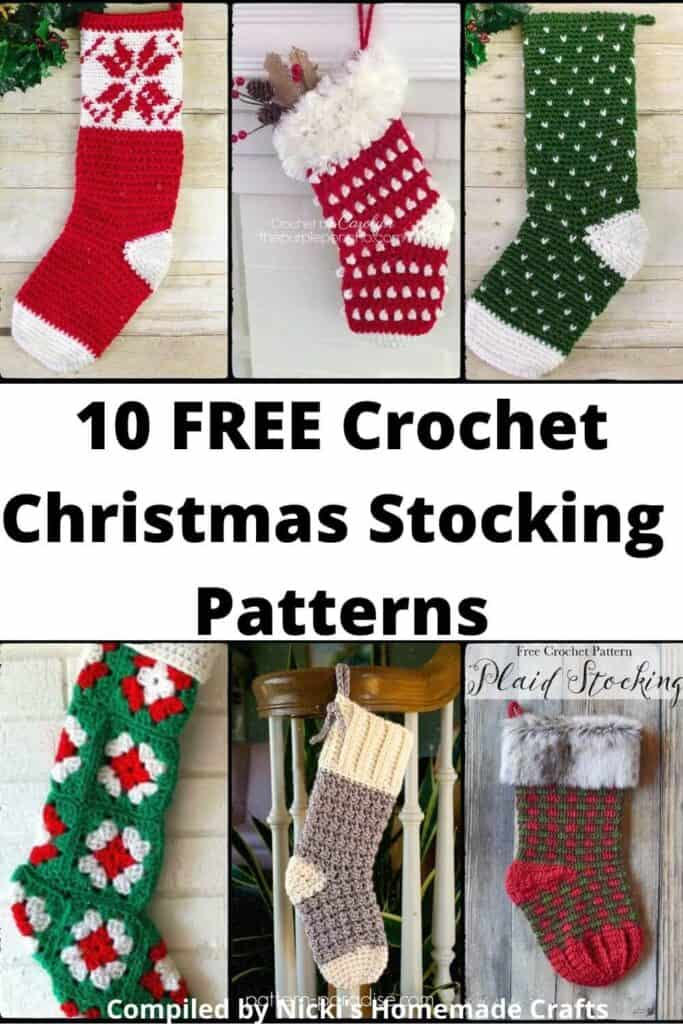 Christmas Crochet Pattern Collection Stocking
