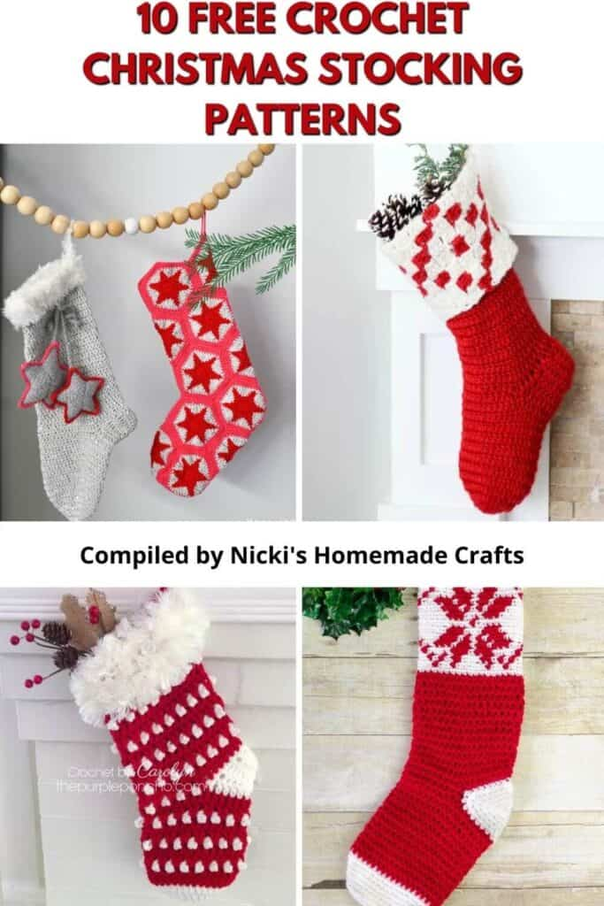 Christmas Stocking Free Crochet Pattern Collection