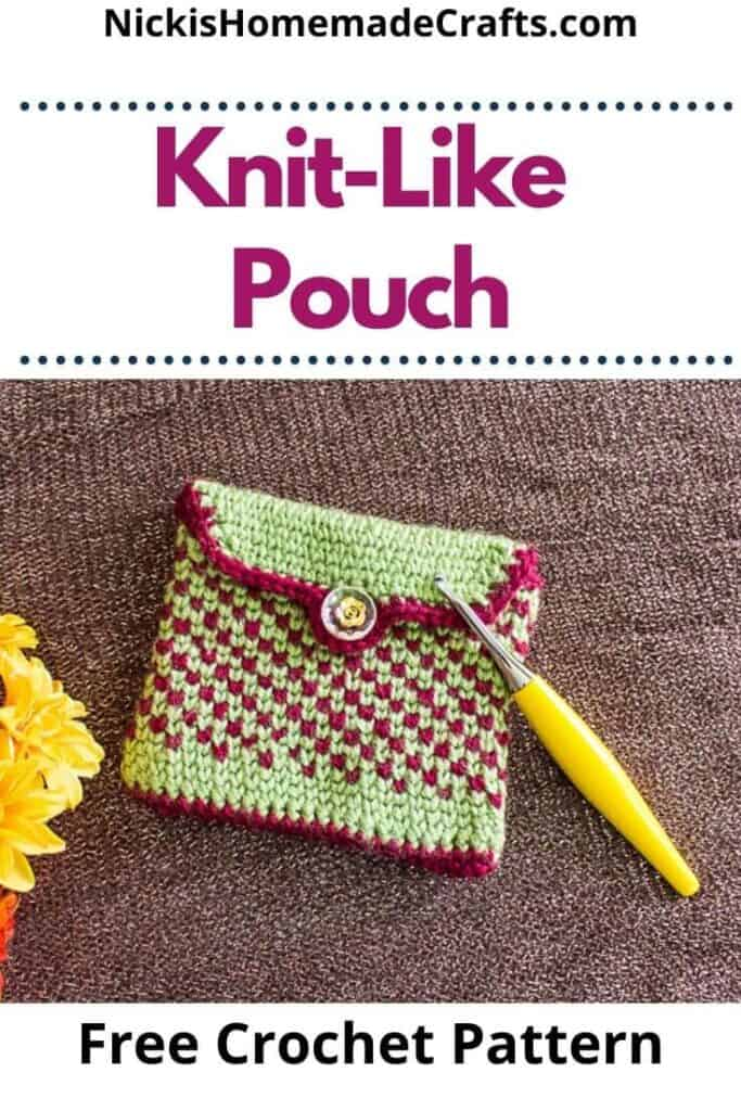 Crochet Knit-Like Pouch Pattern