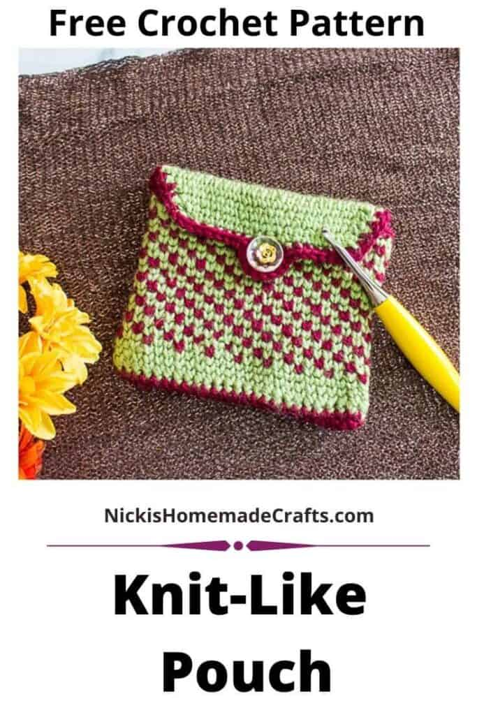 Knit-Like Pouch - Free Crochet Pattern