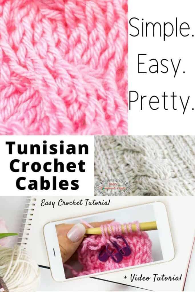 Tunisian Crochet Cable Square Crochet Tutorial