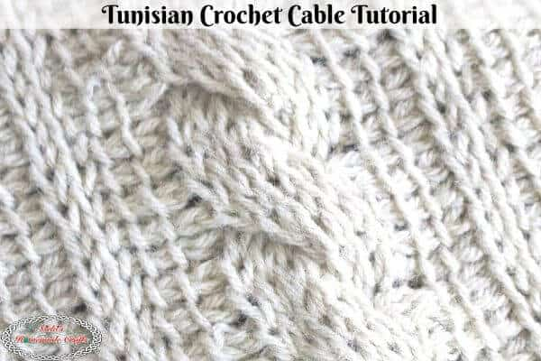 Tunisian Crochet Cable Square Crochet Tutorial plus video
