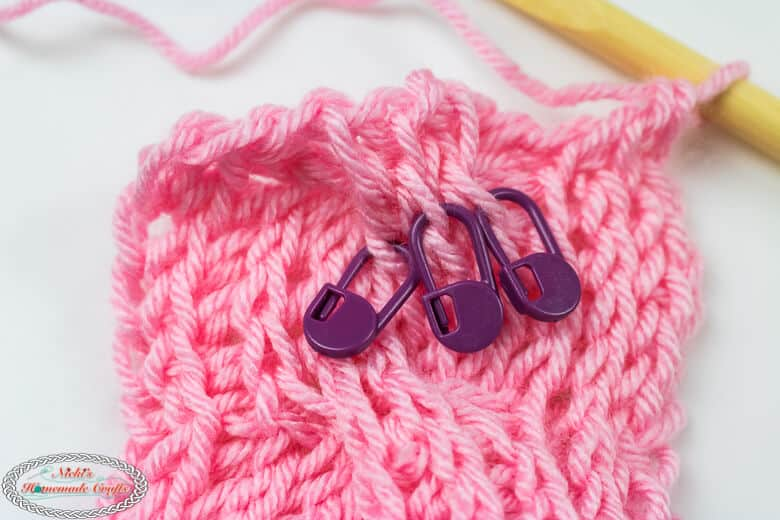 reverse row of Tunisian Crochet Cable