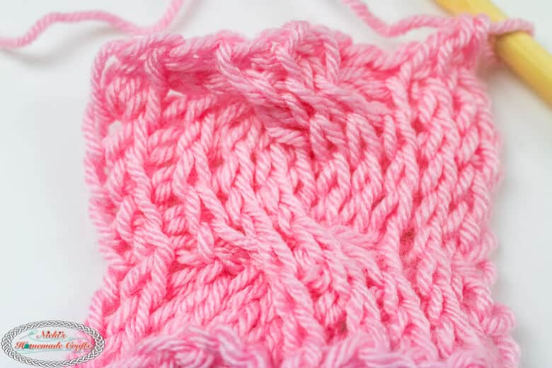 Tunisian Crochet Cable finished