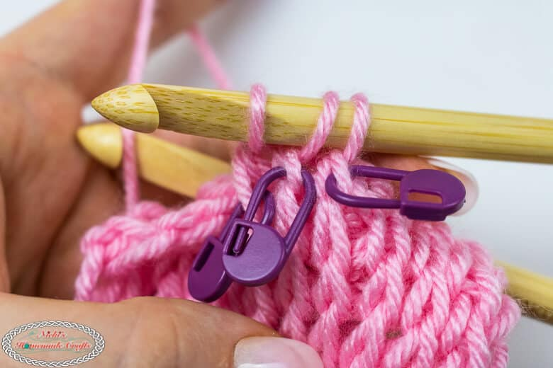 crochet skipped sticthes for Tunisian Crochet Cable