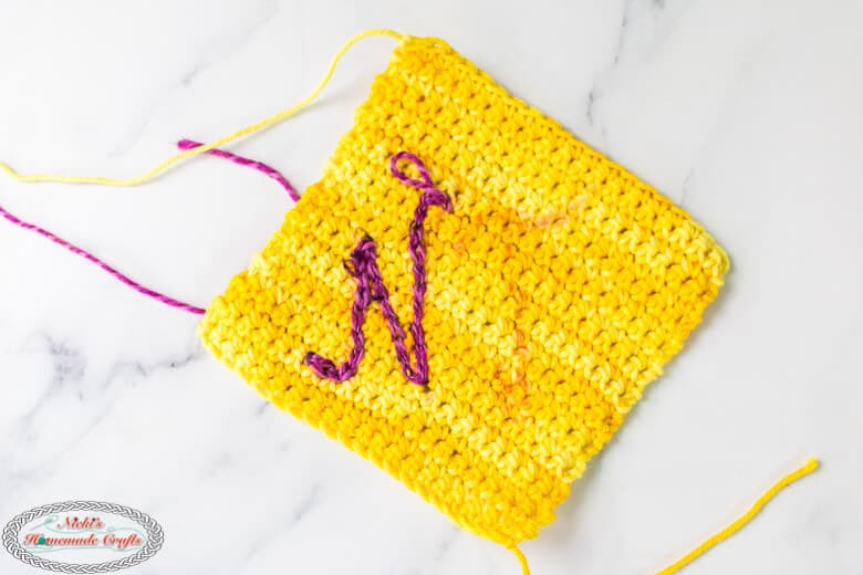 surface crochet on square
