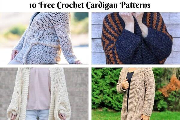 Winter Cardigan Crochet Pattern Collection Cover