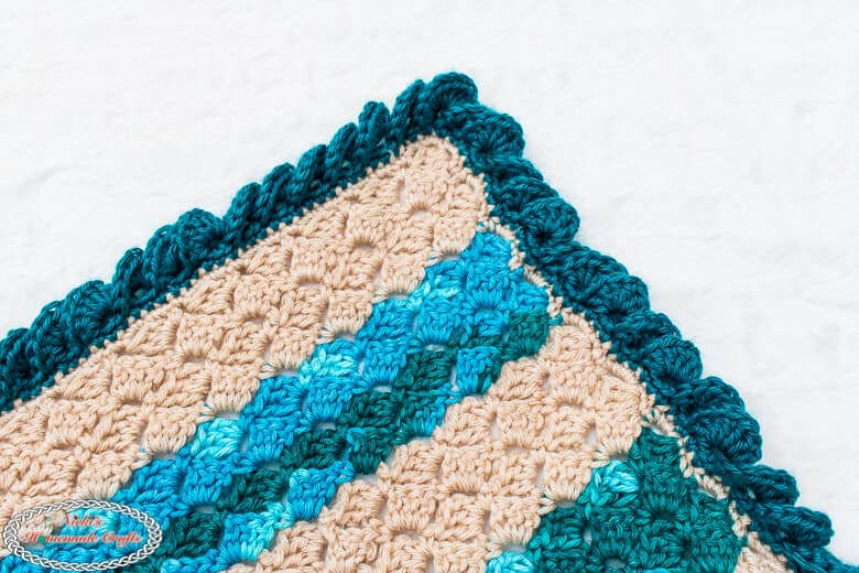 close up of the beach blanket