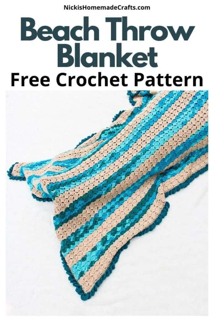 crochet beach blanket free pattern draped over feet and legs to keep warm