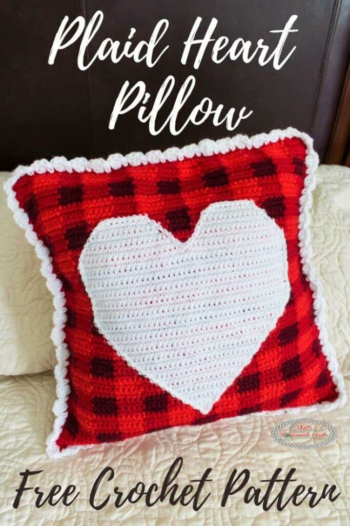 Plaid Pillow with Heart