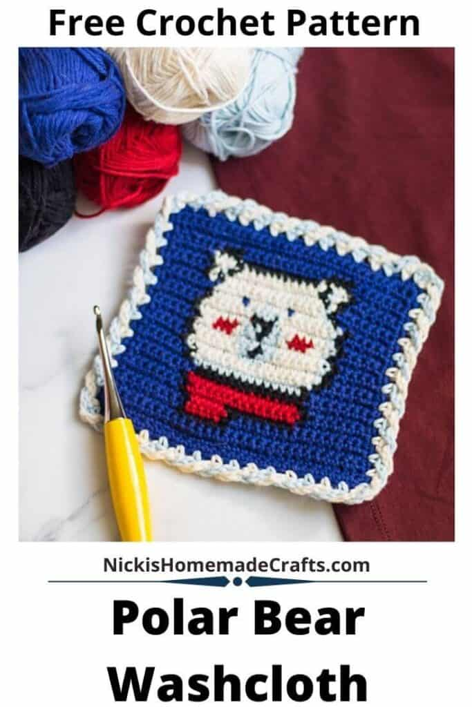 Crochet Polar Bear Washcloth
