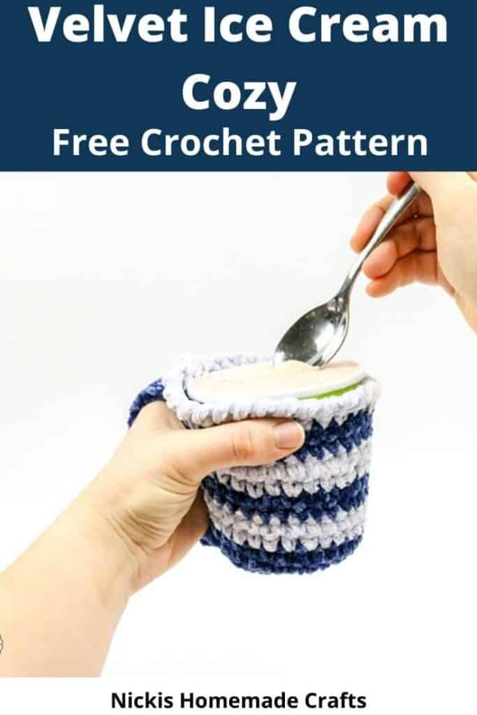 Crochet Velvet Ice Cream Cozy