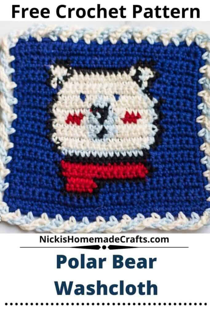 Polar Bear Washcloth - Free Crochet Pattern