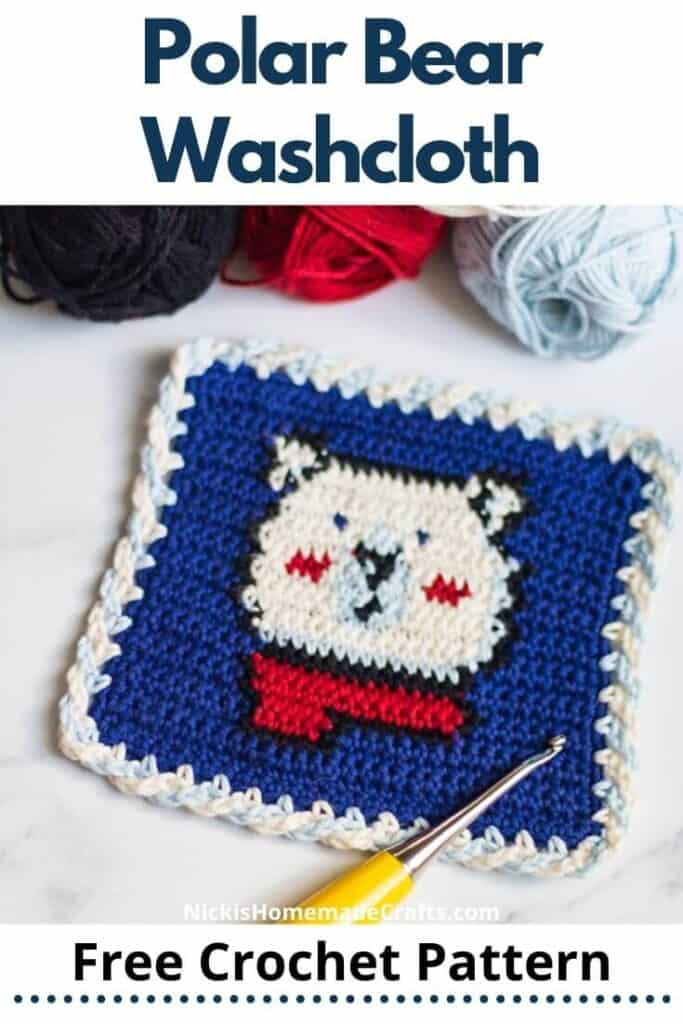 Polar Bear Washcloth Pattern