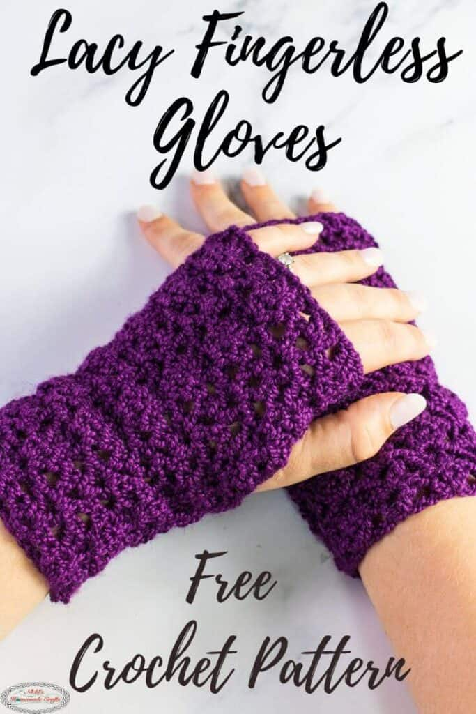 Easy Fingerless Gloves Crocheted