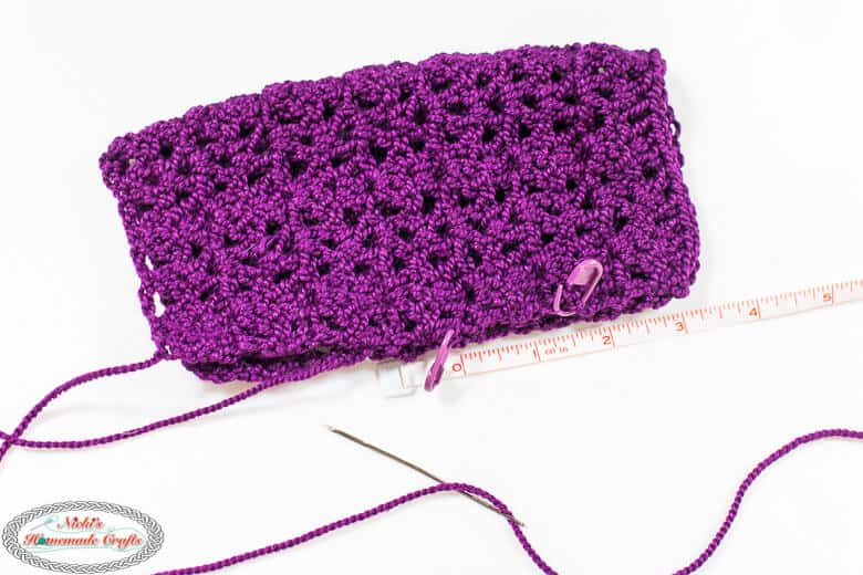 Sewing the Lacy Double Crochet Fingerless Gloves