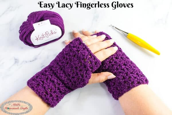 Lacy Easy Fingerless Gloves - Free Crochet Pattern