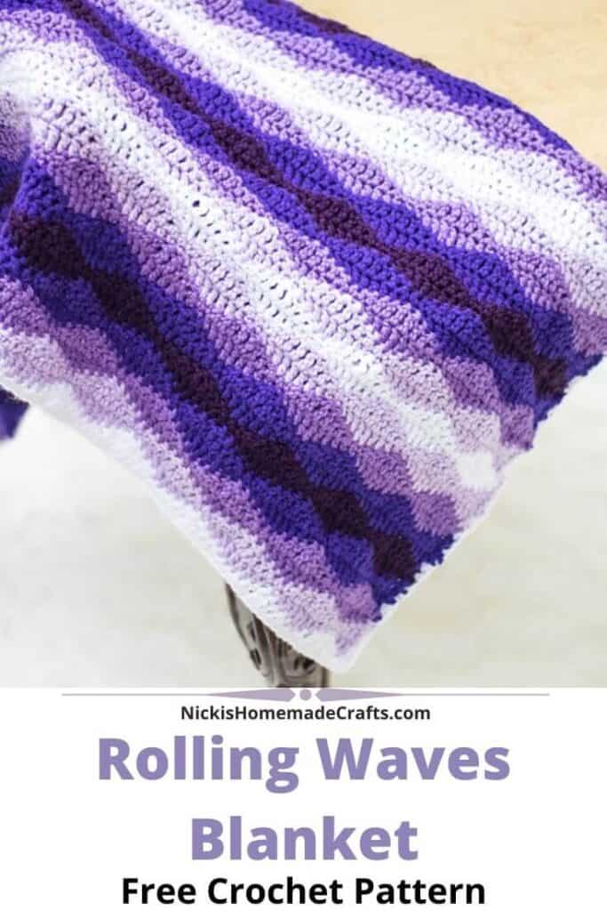 Rolling Waves Blanket Pattern