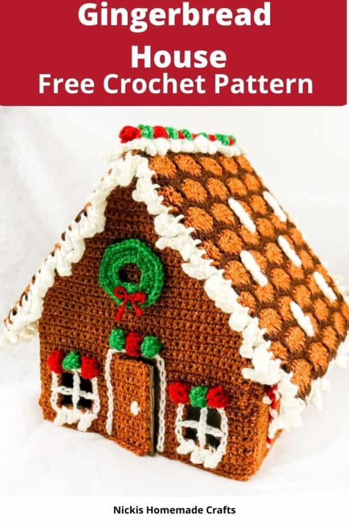 Crochet Pattern Gingerbread House