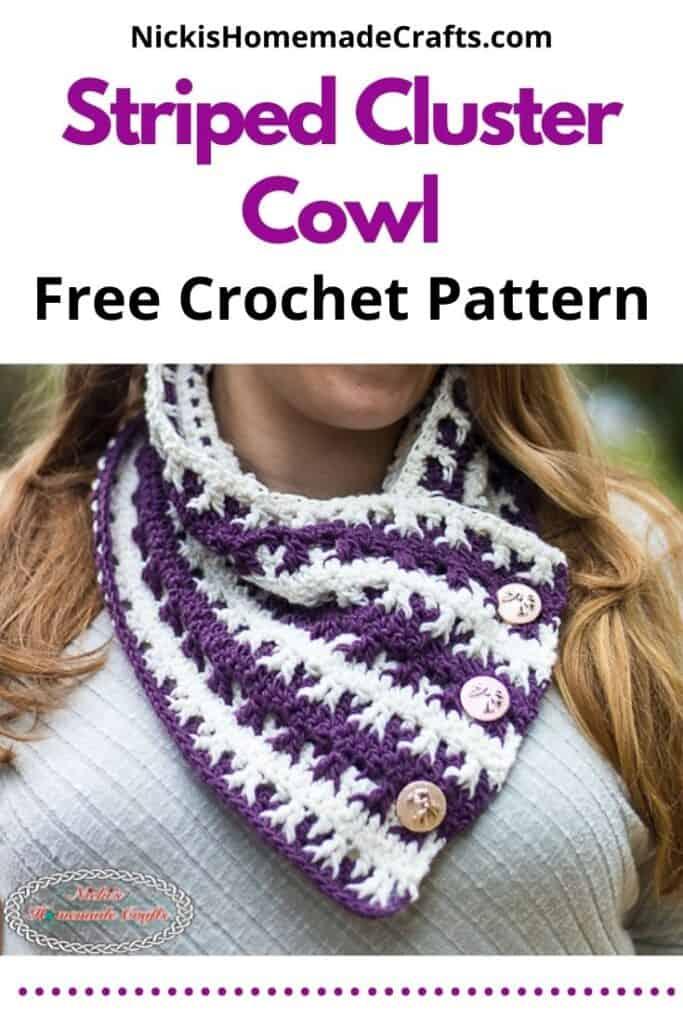 Striped Cluster Cowl - Free Crochet Pattern