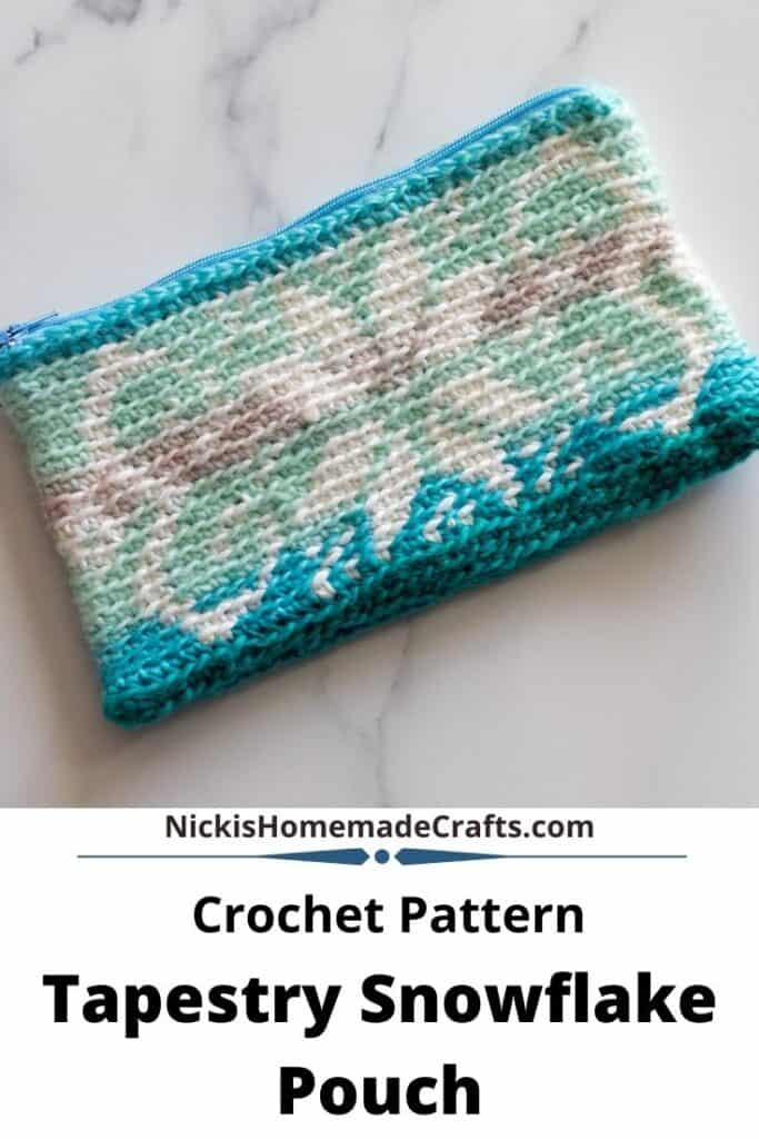 Tapestry Snowflake Pouch - Free Crochet Pattern