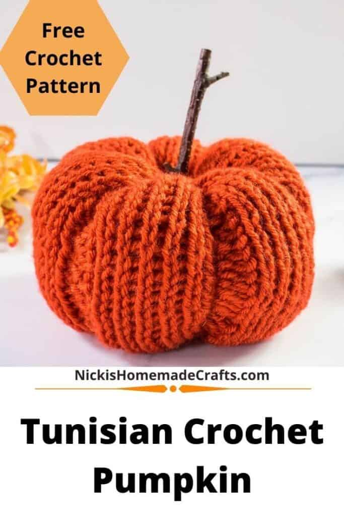Tunisian Crochet Pumpkin Pattern Free