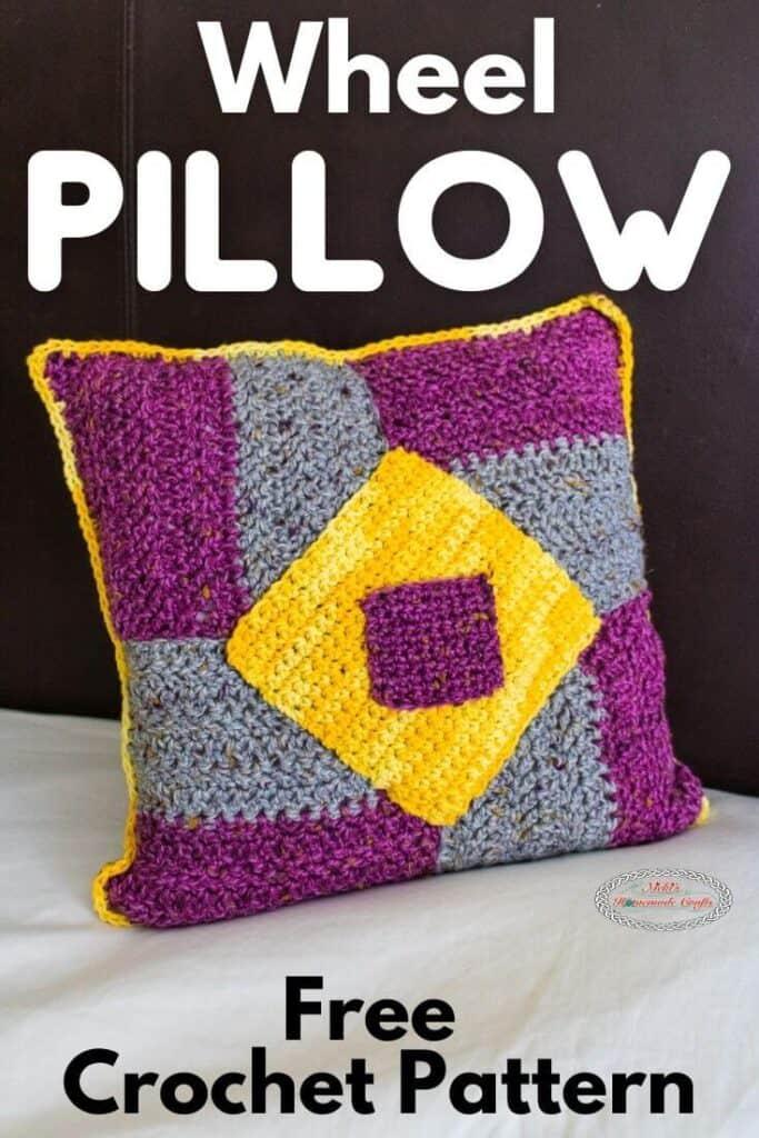 Wheel Crochet Pillow