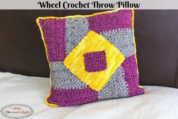 Wheel Crochet Throw Pillow Pattern