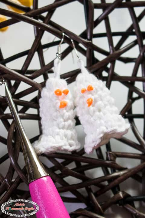 Crochet Ghost Earrings